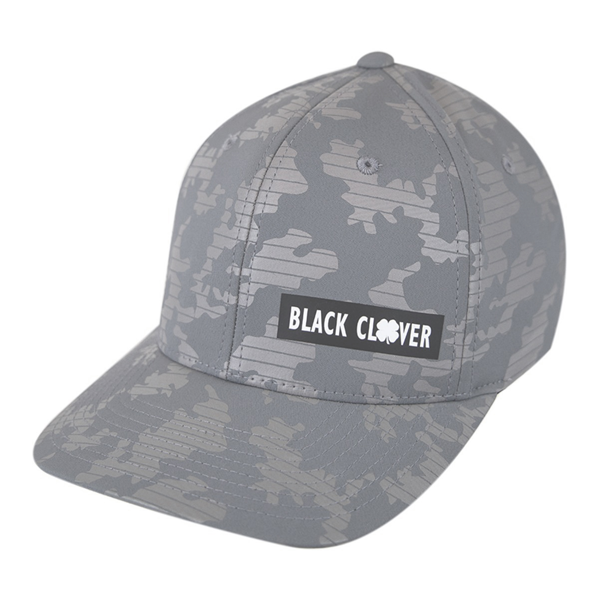 NEW Black Clover BC Pride Urban Grey Camo Fitted S/M Golf Ha